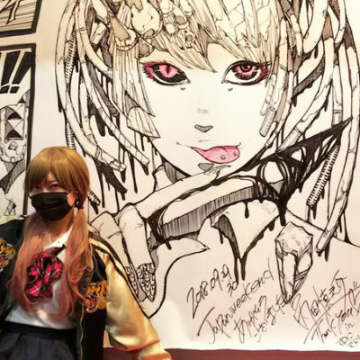 Uchida live paint in Spain