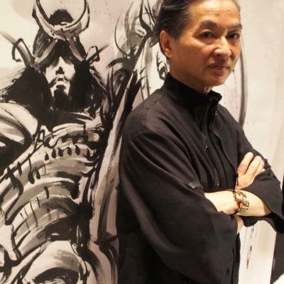 Sumi ink artist Hidekichi Shigemoto