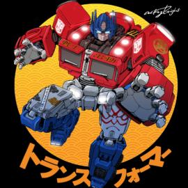 Hasbro's Transformers Optimus Prime kabuki style by Acky Bright