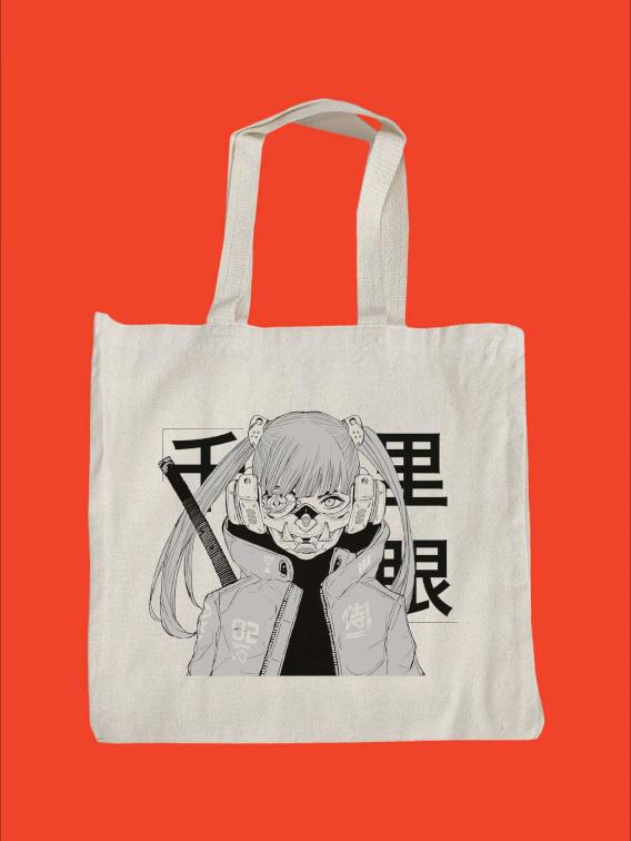 Mask Girl Tote Bag