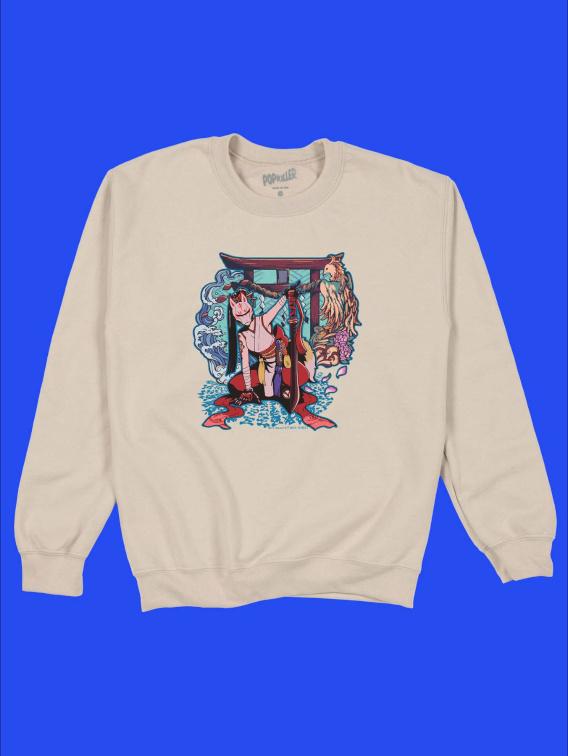 Kitsune Ninja Girl Sweatshirt