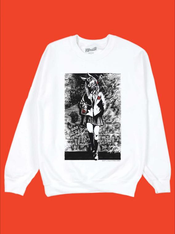 Gas Mask Schoolgirl Sweatshirt