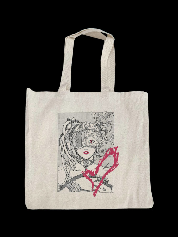 Cyber Face Tote Bag